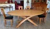 Table Arc ovale en orme