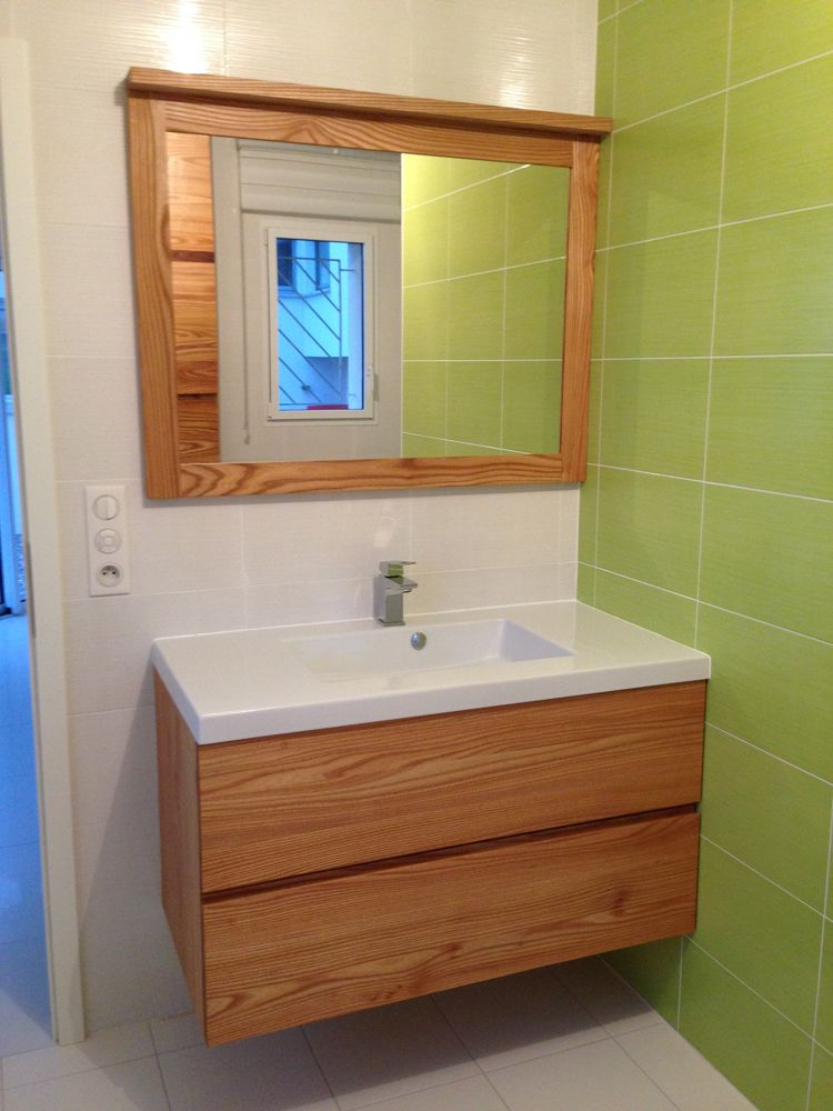 salle de bain en noyer. Black Bedroom Furniture Sets. Home Design Ideas