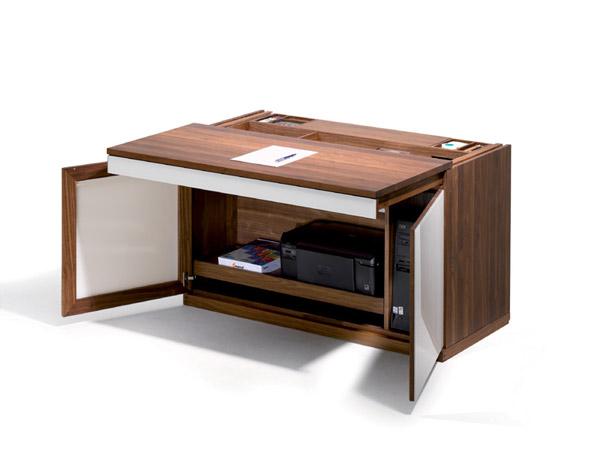 Secr taire avec critoire coulissant meubles lagrange for Meubles lagrange